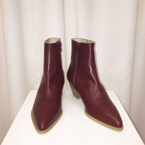Vanessa Ankle Boots_Burgundy