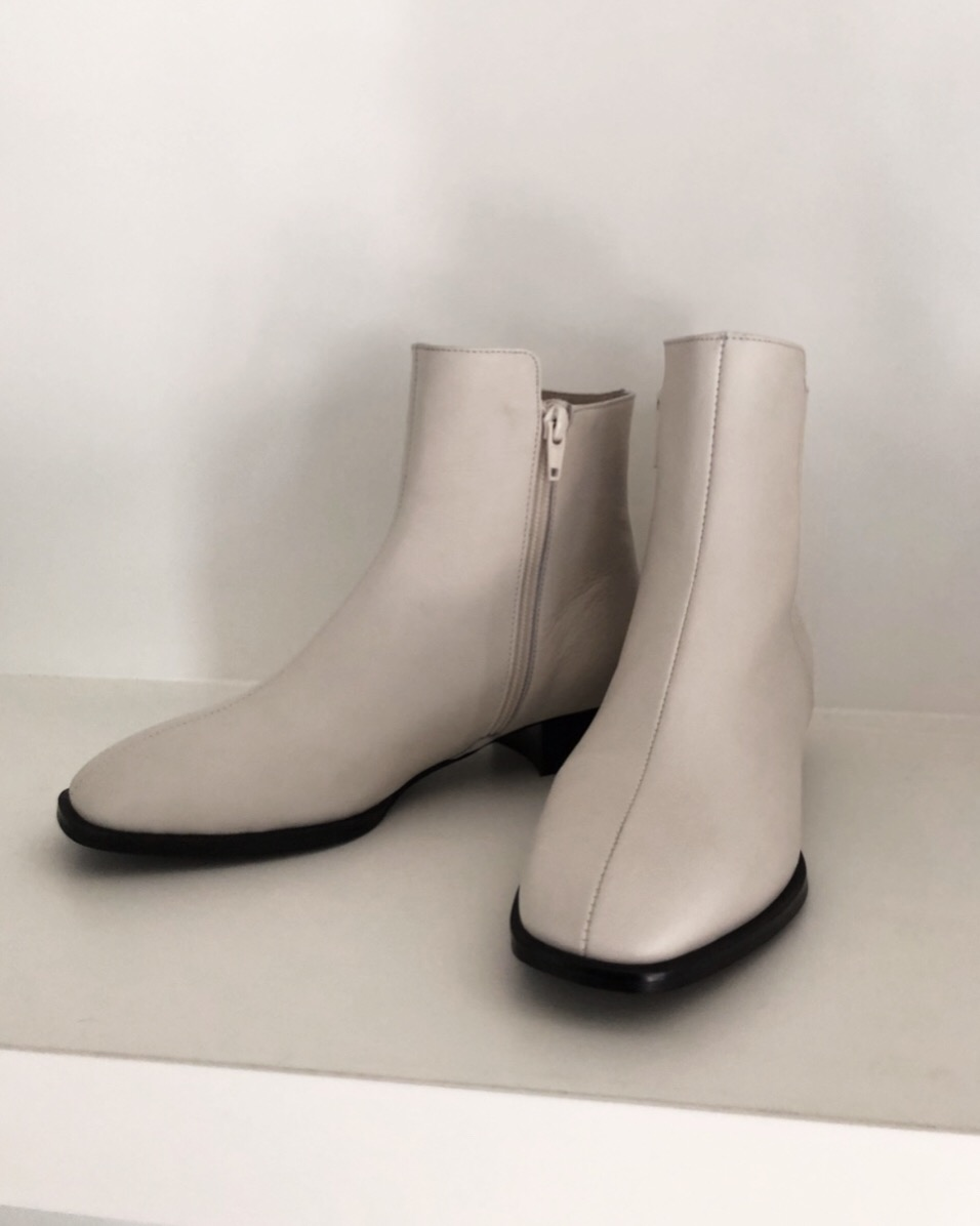 French Ankle Boots_off white