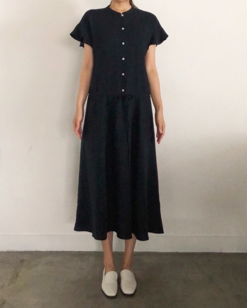 linen ruffle long dress(7/31일배송)