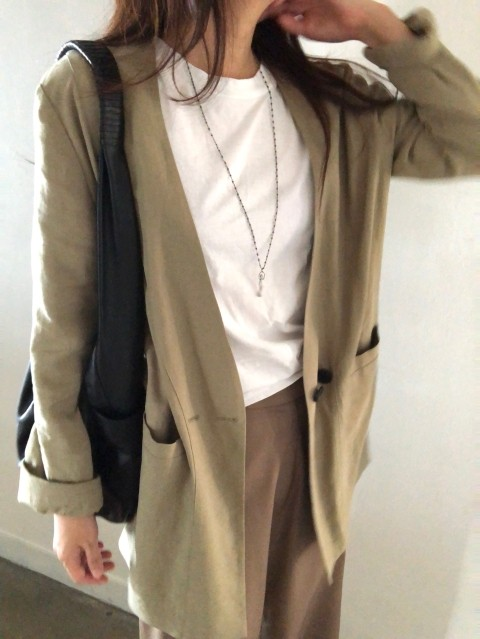 linen collarless jacket (9/11일배송)
