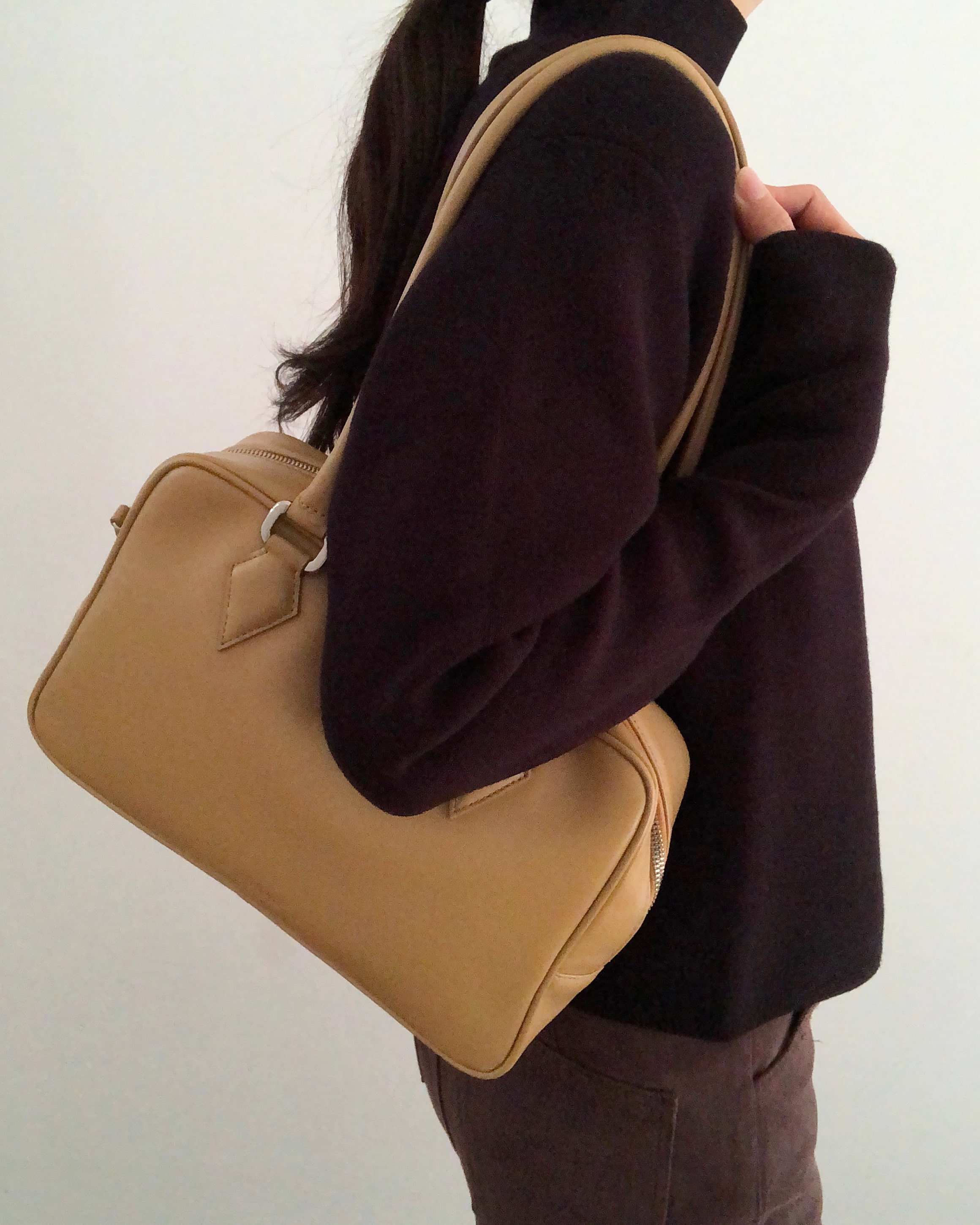 Lauren square bag_tan